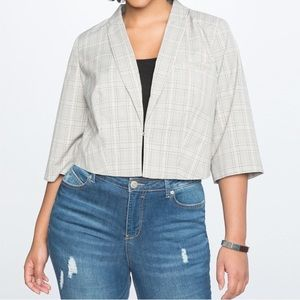 🌟HOST PICK🌟 Eloquii NWT cropped plaid blazer